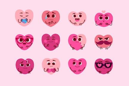 Heart Moods Clipart