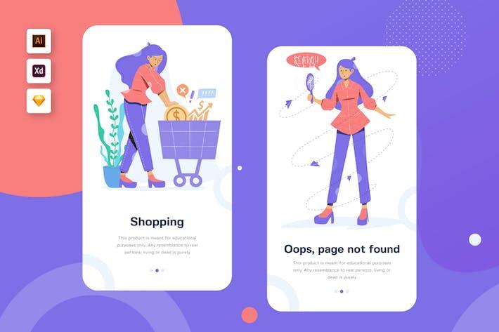 Thumbnail for Tasya - Mobile Illustration Website Header