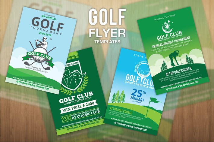 Thumbnail for 4 Golf Flyers Template