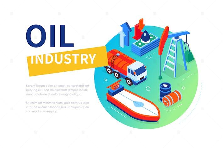 Thumbnail for Ölindustrie - bunte isometrische WebBanner