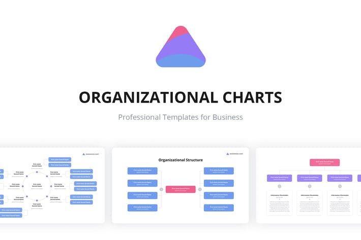 Thumbnail for Org Charts Keynote Templates