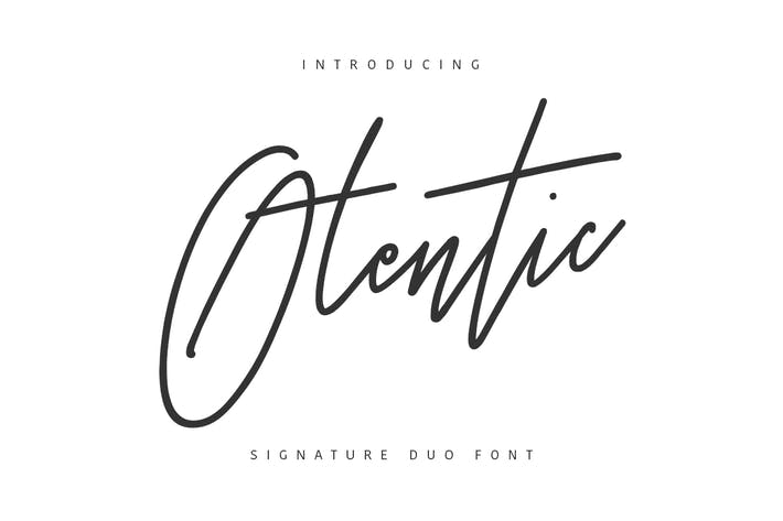 Thumbnail for Otentic Signature Typeface