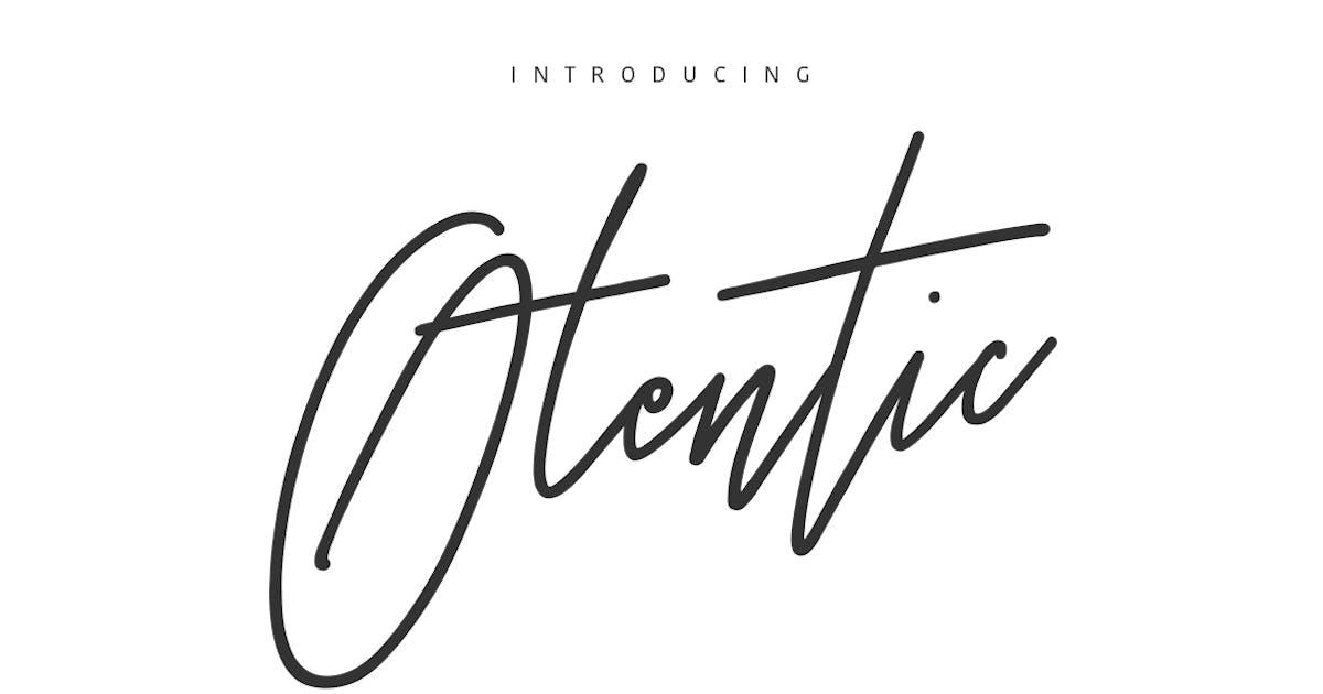 Download Otentic Signature Typeface by maulanacreative