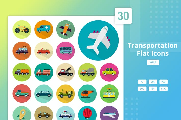 Thumbnail for Transportation - Flat Icons Vol.2