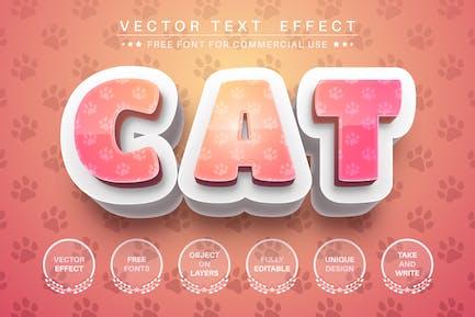 След животного - редактируемый текстовый эффект