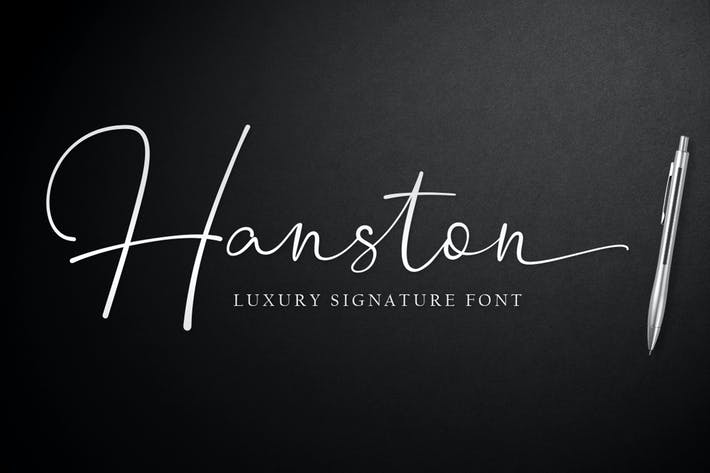 Thumbnail for Hanston | Luxury Signature Font