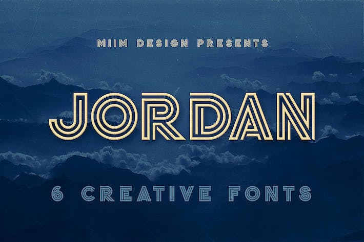 Thumbnail for Jordan - Display Font