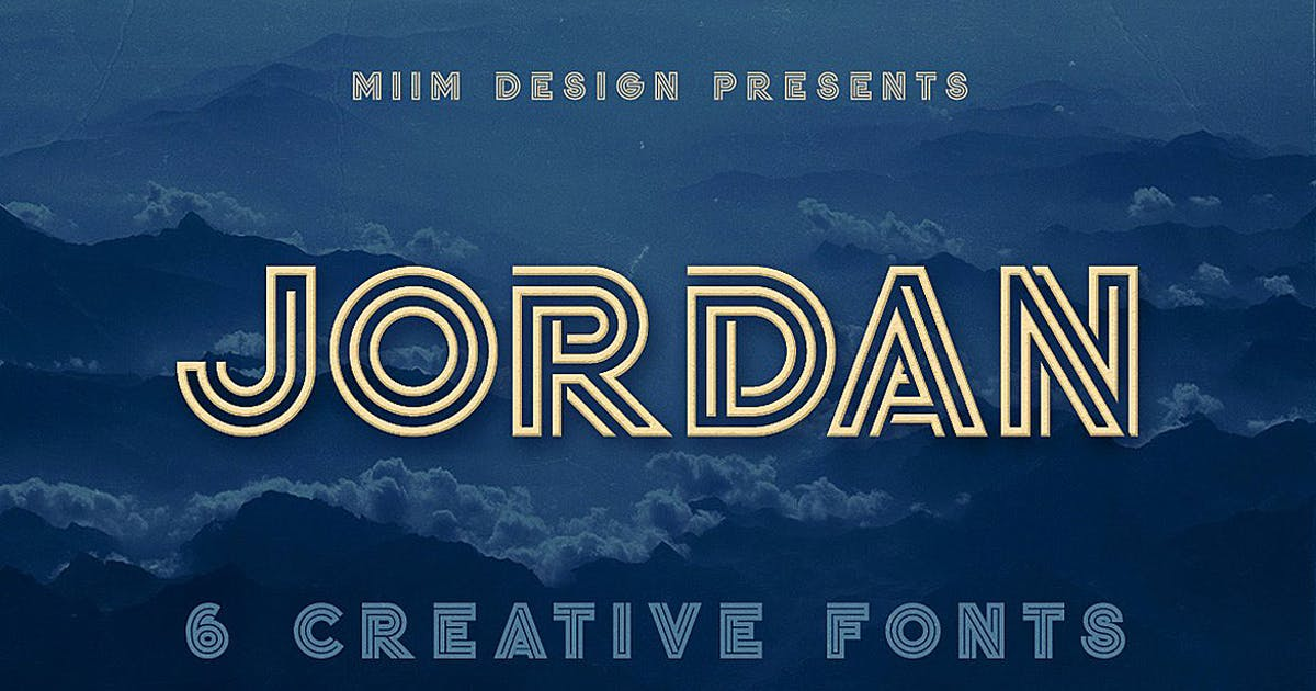 Download Jordan - Display Font by cruzine