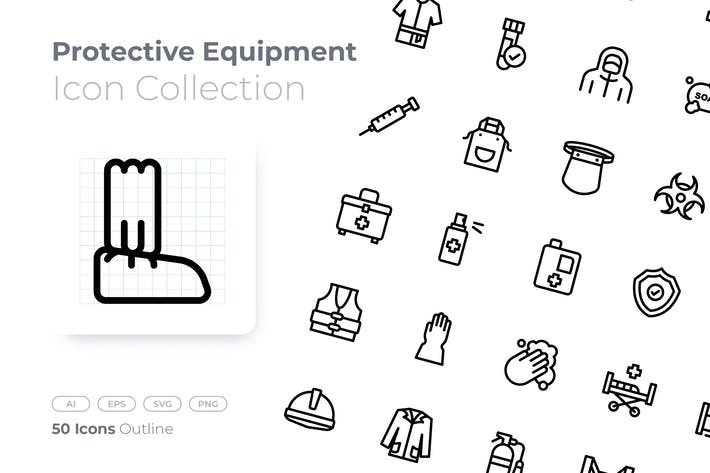 Protective Equipment Outline Icon