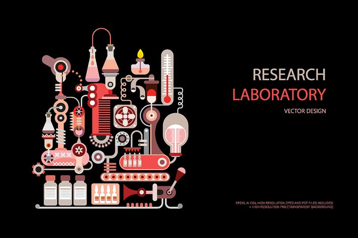 Thumbnail for Research Lab Equipment vector illustration