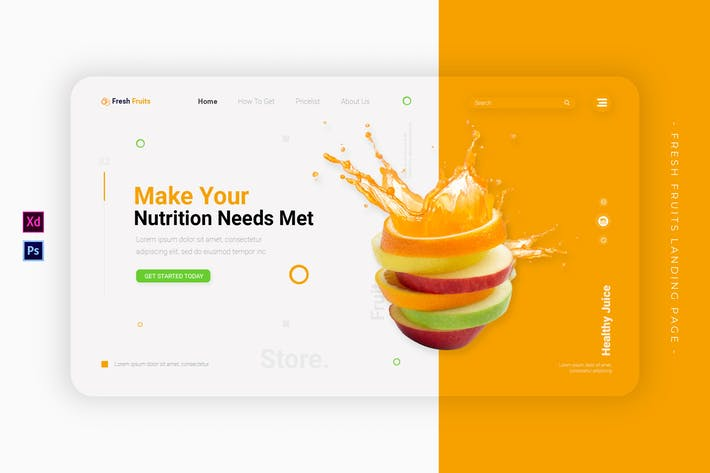 Thumbnail for Fruits frais | Landing Page
