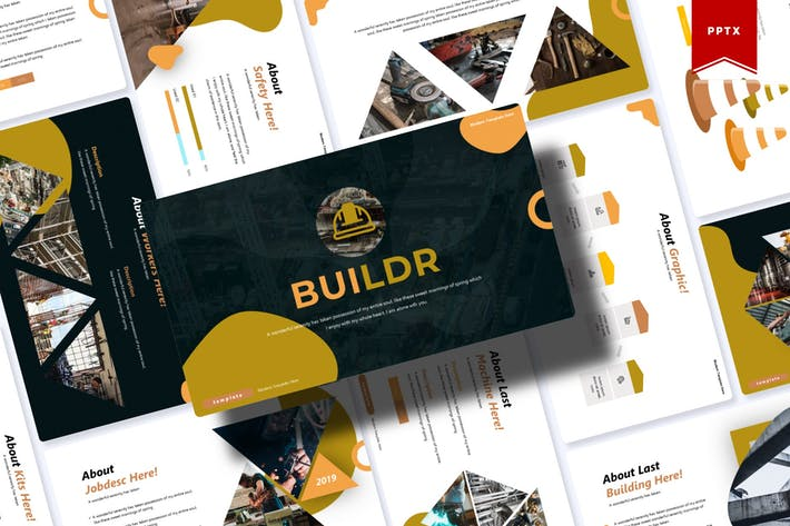 Thumbnail for Buildr | Powerpoint Template