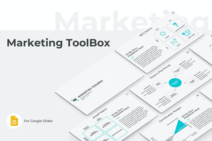 Thumbnail for Marketing Toolbox Google Slides Template