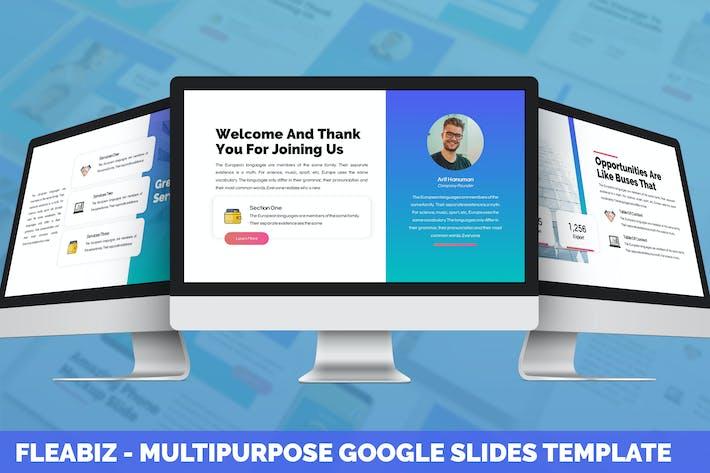 Thumbnail for Fleabiz - Multipurpose Google Slides Template