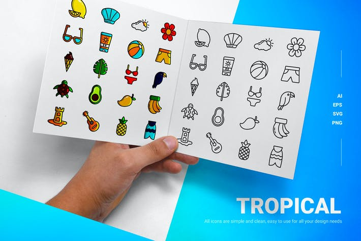 Tropical - Icons