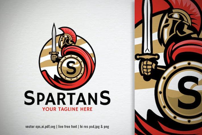 Thumbnail for spartan warrior mascot for a logo