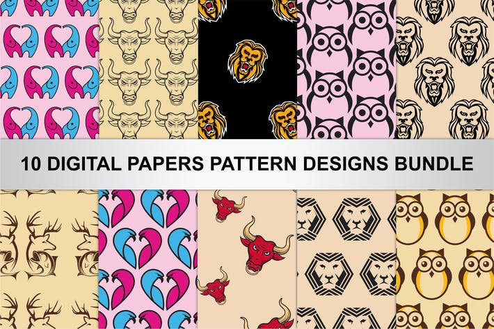 Thumbnail for Digital Papers Pattern Designs Bundle