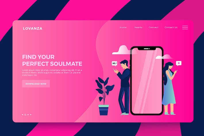Cover Image For Dating Apps Vector Ilustrations