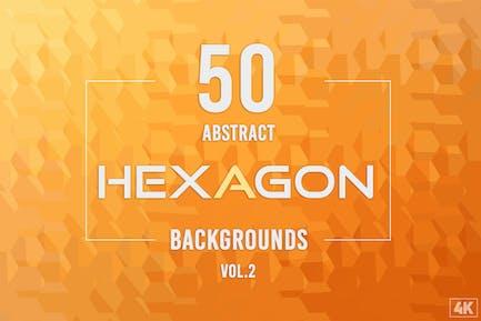 50 Abstrakte Hexagon-Hintergründe - Band 2