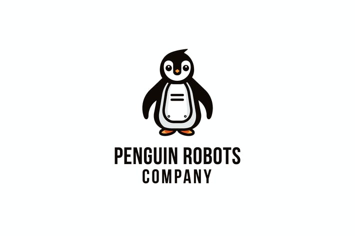 Thumbnail for Penguin Robots Company Logo Template