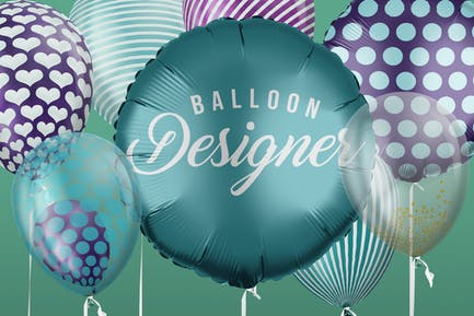 Helium Balloon Designer Mockup Set