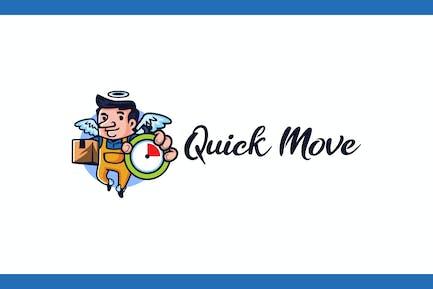 Déplacement rapide - Logo du service de déménagement et de stockage