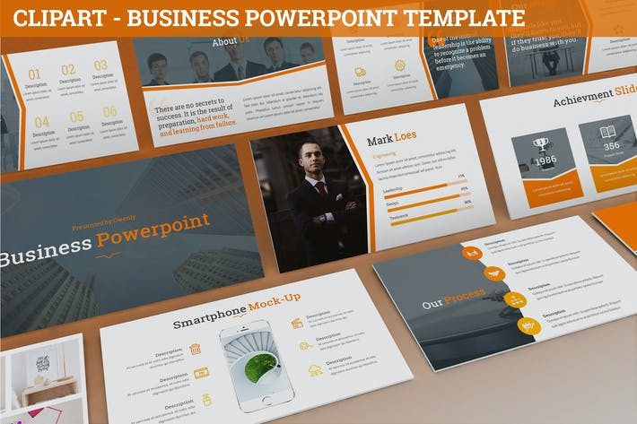 Thumbnail for Clipart - Business Powerpoint Template