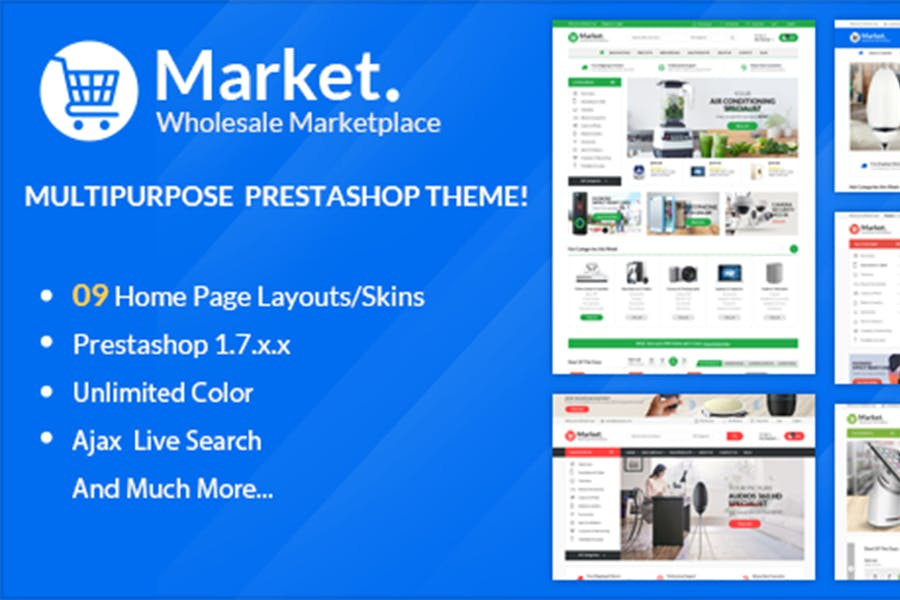 Themes Market Responsive Prestashop 1.7 - product preview 0