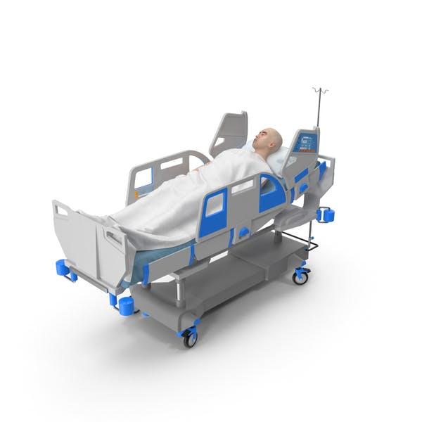 Patient im Bett