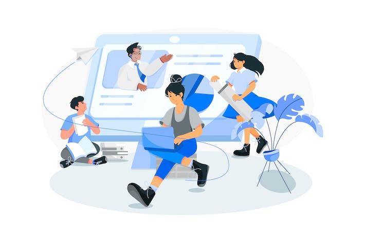 Thumbnail for Online Course vector Illustration concept