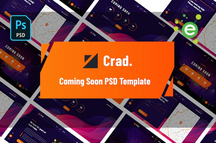 Thumbnail for Crad - Creative Coming Soon PSD Template