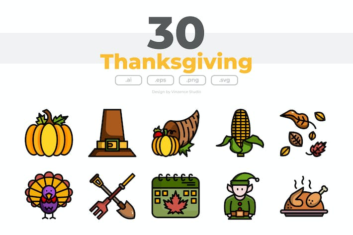 30 Thanksgiving Icons