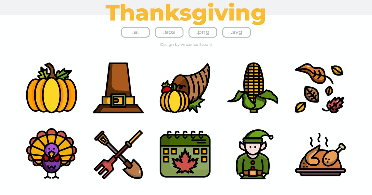 Download 30 Thanksgiving Icons by winnievinzence