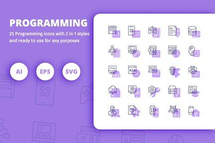 ProgrammierIcons (Line und Solid)