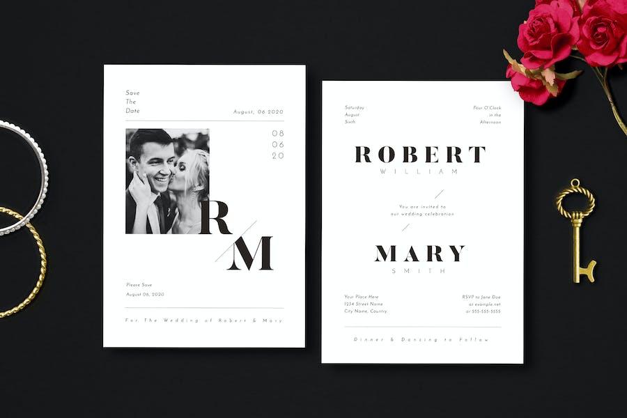 Simple Wedding Invitation 10