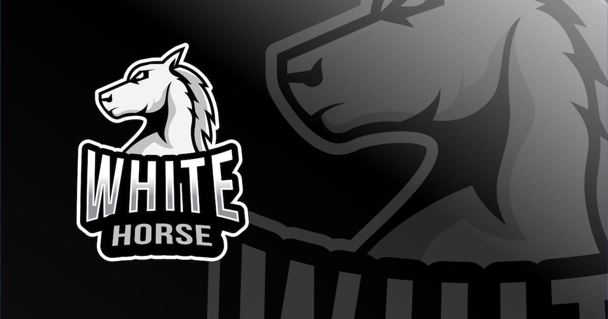 Download White Horse Esport Logo Template by IanMikraz