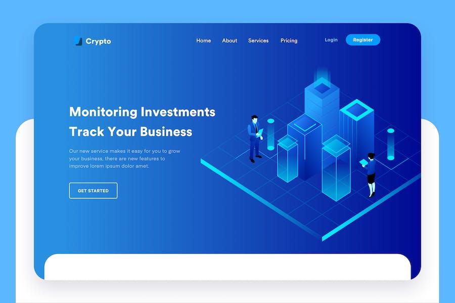 Business Tracking Desktop Header Illustration
