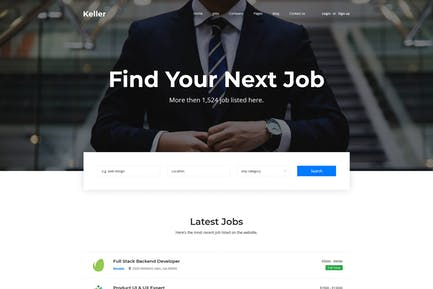 Keller - Job Board HTML Template