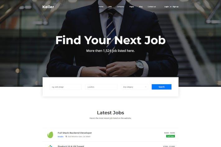 Thumbnail for Keller - Job Board HTML Template