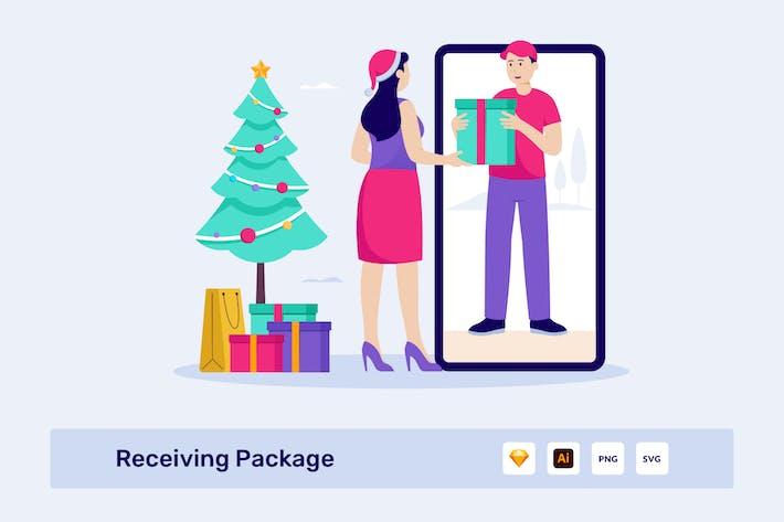 Thumbnail for Empfangen von Paket-Vektor