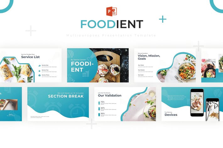 Cover Image For Foodient - Powerpoint Template