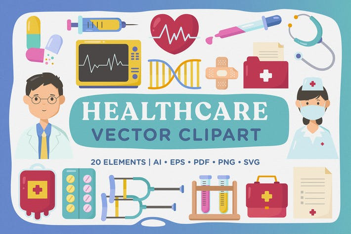 Healthcare & Medical Vector Clipart Pack