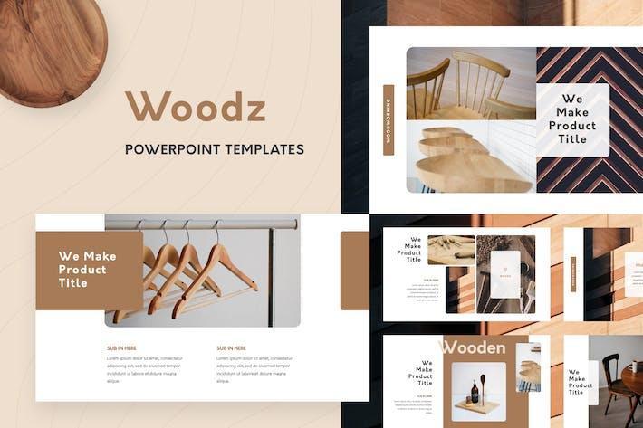 Thumbnail for Шаблоны PowerPoint Woodz