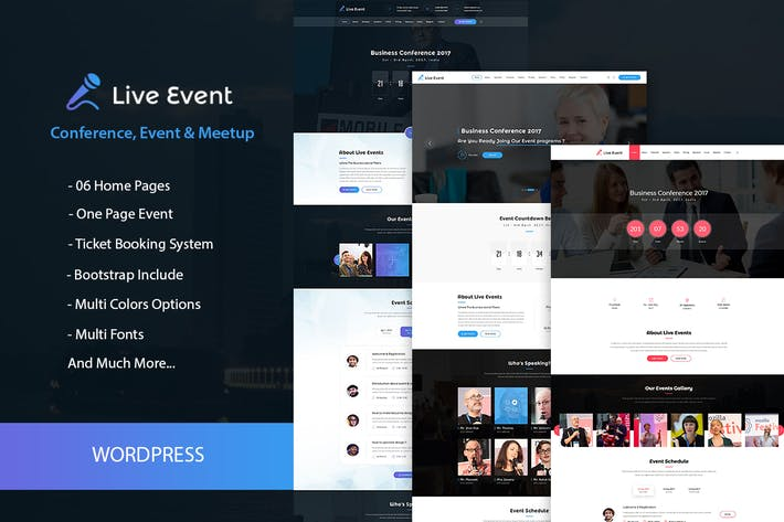 Thumbnail for Live Event - Conference, Event WordPress Theme