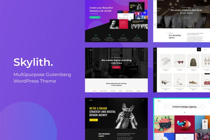 Thumbnail for Skylith | Multipurpose Gutenberg WordPress Theme