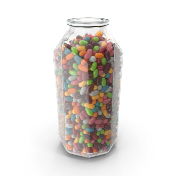 Thumbnail for Octagon Jar with Jelly Beans