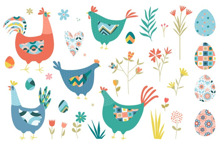 Thumbnail for Easter Chickens and Florals