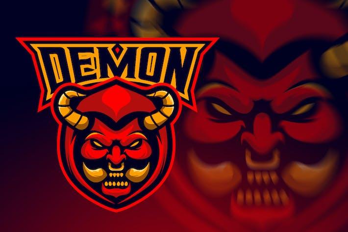 Thumbnail for Evil Angry Demon Esport Logo