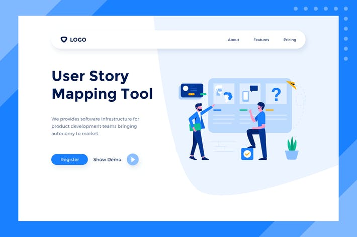 Thumbnail for User Story - PSD Web Banner Landing Page Template