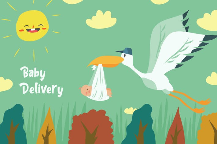 Thumbnail for Baby Delivery - Vector Illustration